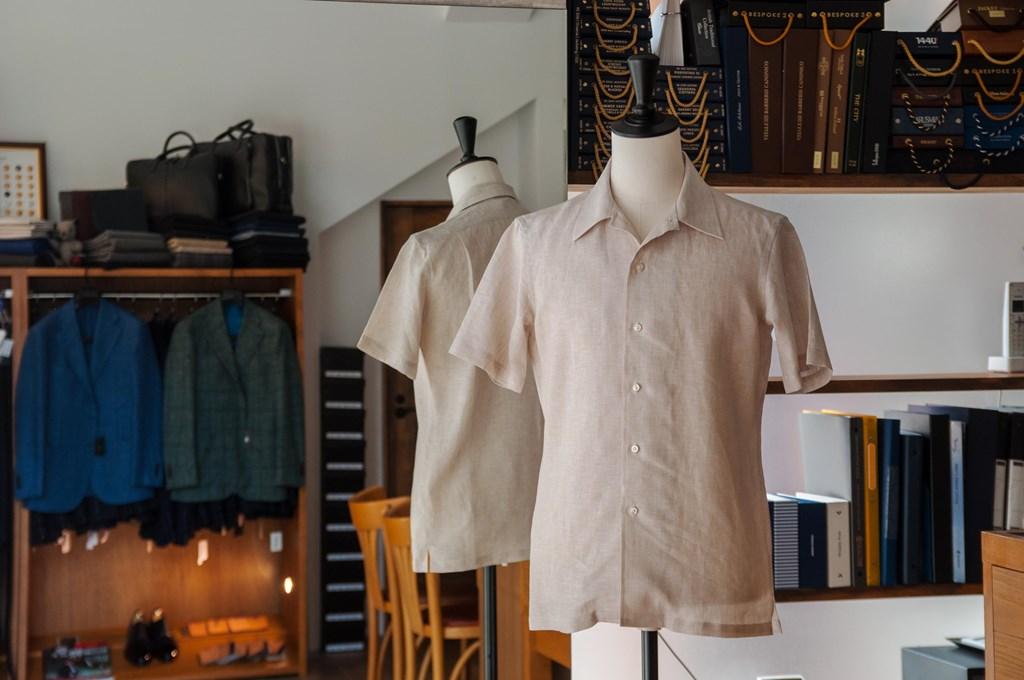 リネンのオーダーシャツ